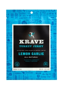 Lemon Garlic Krave Turkey Jerky